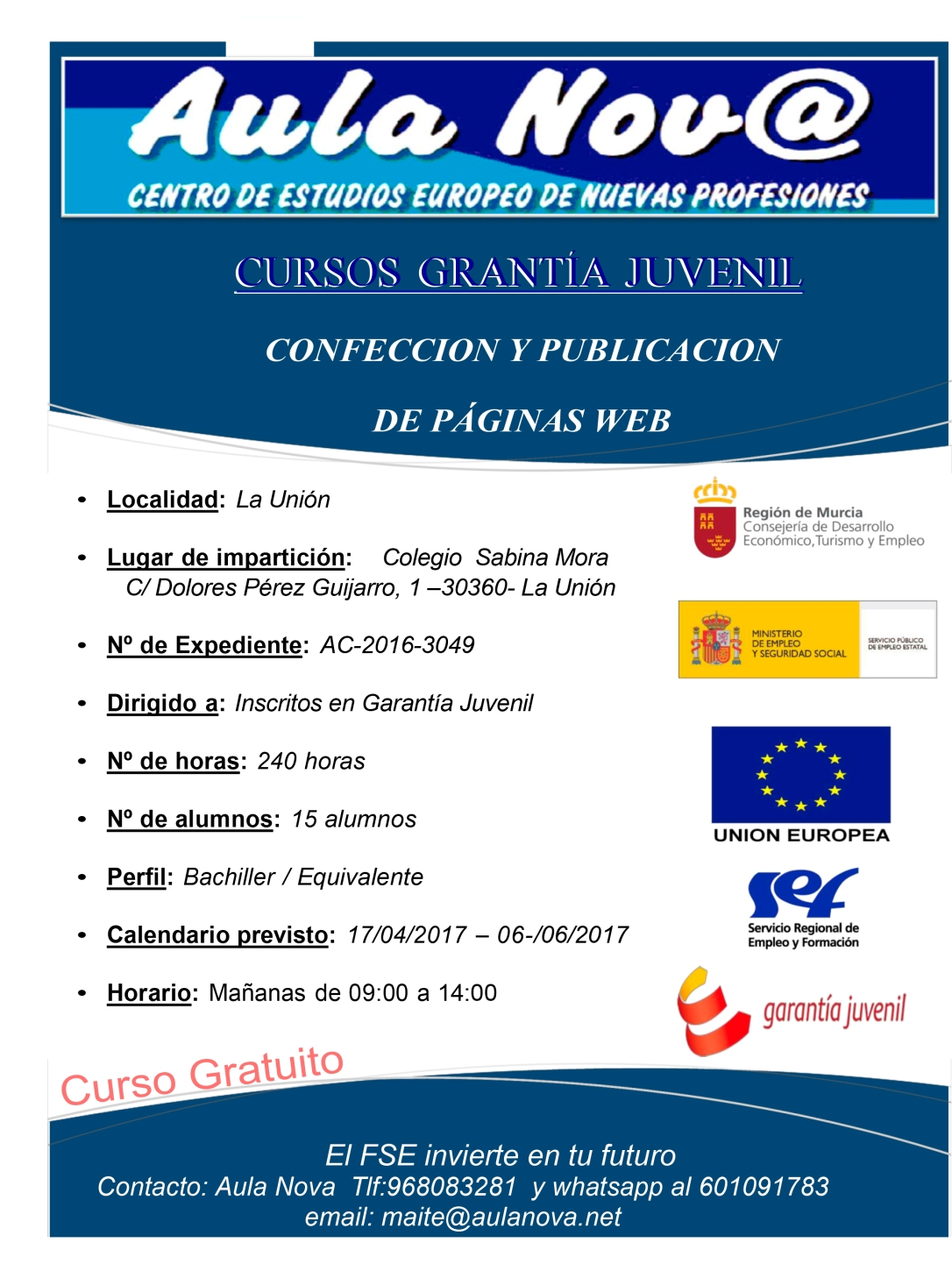 Cartel Curso - AC-2016-3049